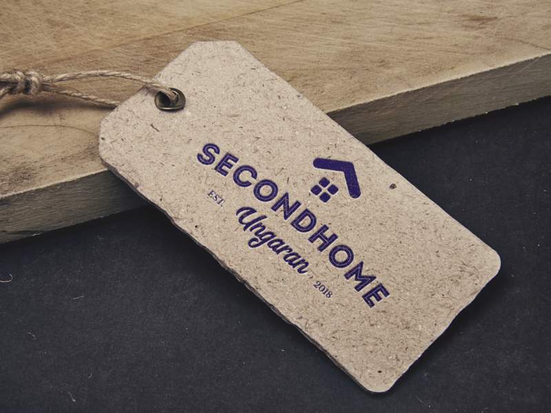 Secondhome Ungaran mockup blue simple inkscape logo a day tag price classic logo type vintage second home second hand logo