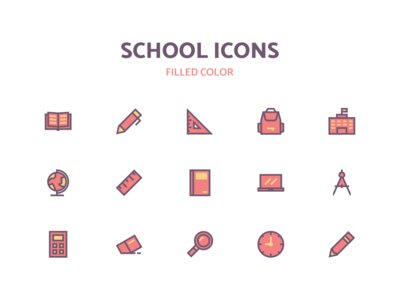 School icons icon a day thenounproject iconfinder filled color icon education icon school icon icon