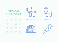 Medical line icons