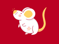 Year of the Rat procreate illustration mouse rat lunarnewyear