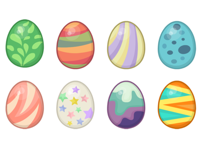 Eggs eggs egg patterns vector game