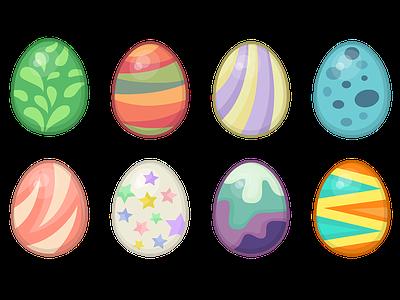 Eggs eggs egg patterns vector game