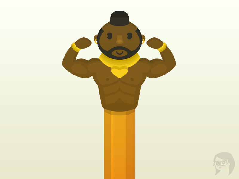 I love the fool mr.t pencil topper illustration sketch-dailies