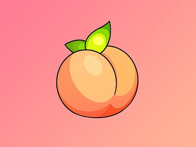 Peachy tattoo procreate vector illustration peach
