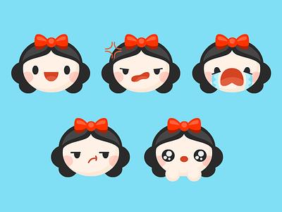 Snow Emotes snow white emoticons cute