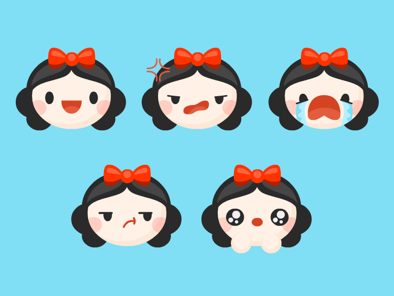 Snow Emotes snow white emoticons cute