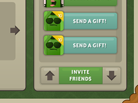 Game UI and buttons