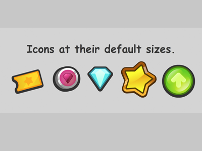 Chunky Game Currency Icons icons gameicon buttons chunky vector illustration game currency comicsans