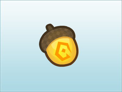 Golden Acorn Currency acorn illustration currency game ui icon