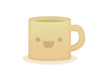 Too cute to drink coffee cup mug illustration