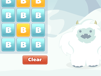 Angry Yeti game ui buttons yeti vector snow