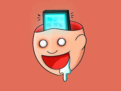 Mindless phone inktober2019 procreate illustration