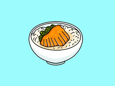 Taiwanese Porkchop Rice procreate food illustration