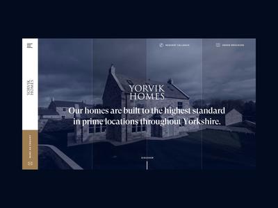 Property Developer Homepage Concept