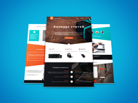 Landing page for a contest