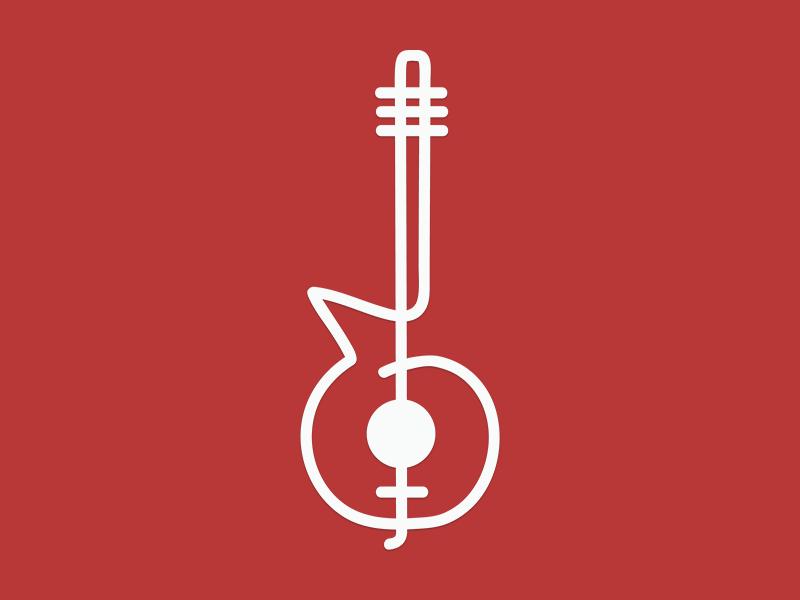 Guitar - clef logo clef guitar logo