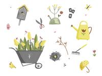Spring/summer garden pattern