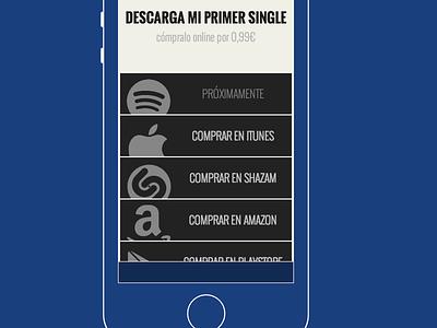 buy music (RWD) responsive design rwd apple spotify shazam play store amazon menu nav