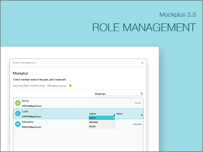 Role Management ux ui prototyping prototype mockplus mobile interaction designer design appdesign app