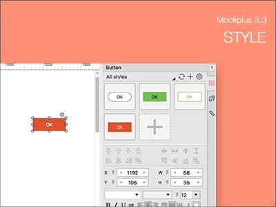 New Feature of Mockplus 3.3 - Style ux ui prototyping prototype mockplus mobile interaction designer design appdesign app