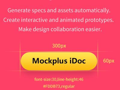 Design handoff & collaboration tool designer mockplus ui collaboration handoff design