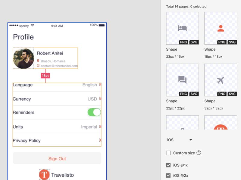 Mockplus iDoc Sample Design – Travelisto (Mobile, Travel)