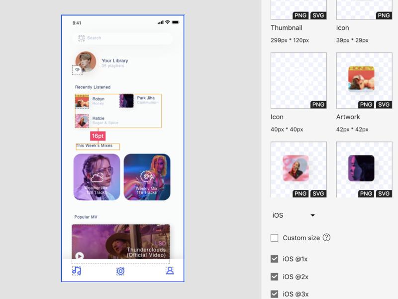 Mockplus iDoc Sample Design – THE HOT 100 (Mobile, Music) interaction app design mockplus designer prototyping ui ux prototype