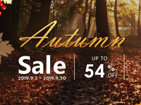 Super Autumn Sale - Up to 54% OFF!