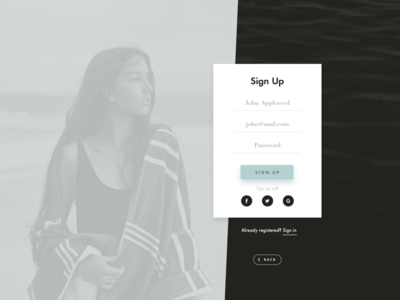 Daily UI 001 / Sign Up sign up daily ui form minimal challenge dailyui