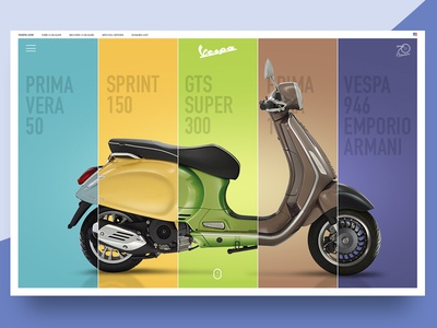 Daily UI 003 / Landing Page (above the fold) main concept redesign vespa motorbike ui daily dailyui challenge page landing