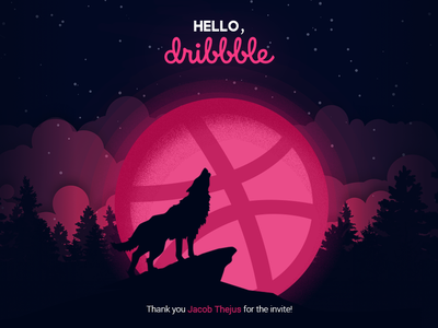 Hello Dribbble! debut first shot first design design vector illustration