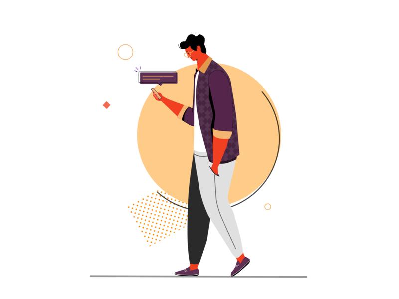 Message Notification sketchapp adobe illustrator ui ux vector message app notifications design art jithu bangalore drawing sketch illistration graphic design graphic art art board ui illustration