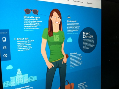 Character for a site homepage concept