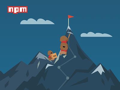 npm landing page hero interactive design npm