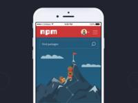 Mobile screen - npm