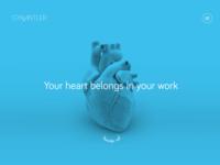 GYK Antler - Site Concept - Your Heart Belongs in Your Work