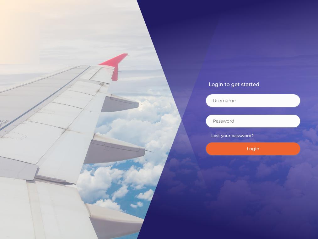 Login getstarted airlines login form login page uidesign