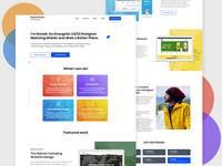 Portfolio Website landing page design landing page personal website portfolio website design materialdesign dailyui