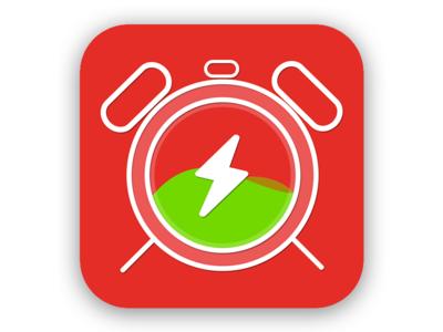 Battery Charge Alarm Logo Concept alarm charging clock logodesign