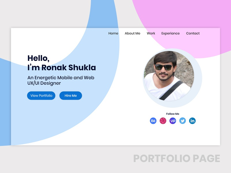 Portfolio Page website design web website portfolio portfolio design portfolio website portfolio page dailydesign materialdesign dribble shot daily 100 dribble dailyui