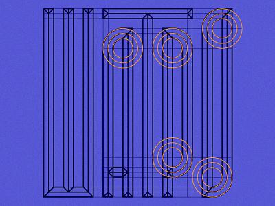 Cyrillic Typography Grid custom lettering customtype lettering letters typographic typeface type grid branding minimal ratio vector industrial design crypto geometric technology tech