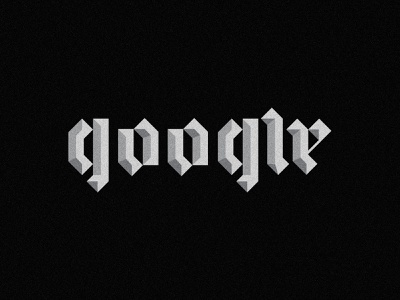 Blackletter gothic typogaphy lettering 3d app branding ui shading texture calligraphy vector industrial crypto geometric technology tech