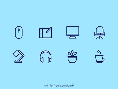 Essential Designer Equipment Free Icon Set
