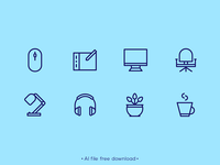 Essential Designer Equipment Free Icon Set