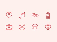 St. Valentine Day Free Icon Set
