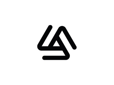 Triangle industrial ratio technology tech triangle crypto currency crypto symbol geometric abstract logo mark