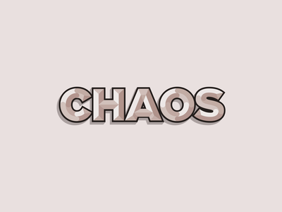 CHAOS design industrial minimal crypto tech technology books science geometric geometry type letters book typography