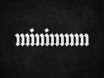 minimum type typogaphy lettering letters mark app branding industrial calligraphy logo calligraphy quadrata ratio vector crypto geometric tech technology gothic blackletter textura