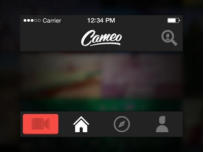 Navigation cameo video navigation tab bar icon logo header footer