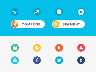 Icons, Buttons, & Badges